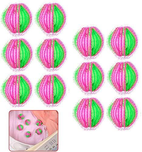 QWEPU 12pcs Boule de Lavage, Lavage Anti-Peluches pour Machine à Laver Paquets Réutilisable Balles de Séchage sèche-Linge balles pour Lave-Linge Boule de Lavage