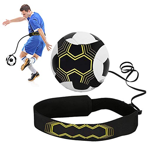 SHUIBIAN Solo Fußball Kick Trainer,Fussball Bungee Praxis Aid Fußball-Trainingsgeräte Fussball Geschenke Jungen
