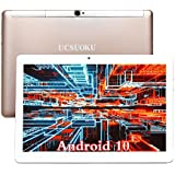 UCSUOKU Tablets 10 Inch,Android 10.0 Deca-Core Processor,4GB RAM,64GB Storage,4G LTE Phablet 10.1 Tablets PC,WiFi,Bluetooth,GPS,OTG,Camera,Google Certified,Support 3G Phone Call,USB Type C Port(Gold)