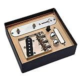 Moligin Pastillas de Guitarra Set Guitarra Telecaster Pastillas del mástil con el Puente Línea Placa para Telecaster Guitarra.