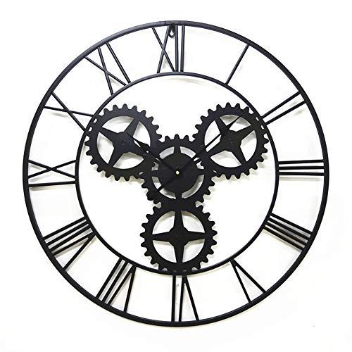 Yikuo Bar Loft Reloj De Engranaje De Viento Industrial, 70 Cm Reloj De...