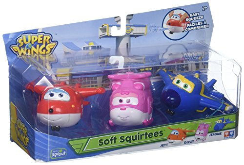 Alpha Group Super Wings - Water Squirtees for The Bath- 3 Pack Toy Figure