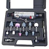 212505B 15 Piezas Recto Mini Aire Plantilla Triturador Kit Esmeril Herramienta De Pulido W/ Acc