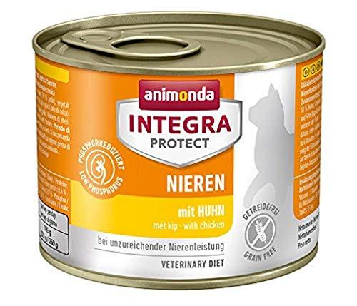 animonda Integra Protect Renal para gatos, comida húmeda para gatos con insuficiencia renal crónica, con pollo, 6 x 200 g