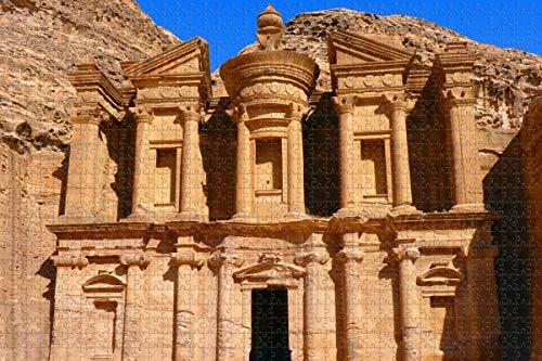 Monasterio Petra Jordan - Rompecabezas para adultos, 1000 piezas, regalo de viaje de madera, recuerdo