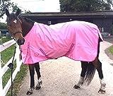 Cwell Equine neuen besten Qualität leicht Pink Pferdedecke/Regendecke ohne Füllung 600Denier 100% wasserdicht, atmungsaktiv, 600Denier (6'3