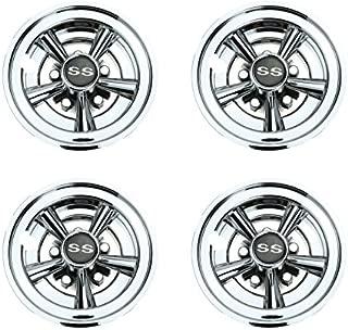 World 9.99 Mall Golf Cart SS Wheel Covers Hub Caps for Yamaha/Club CAR/EZ-GO Par Car 8
