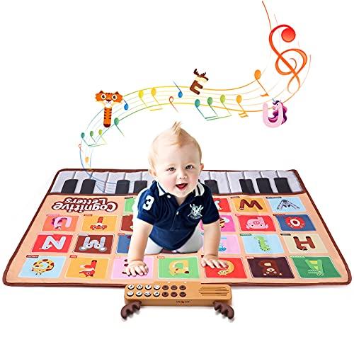 Hautton Tapis Piano Musical de Sol, Tapis de Dance Électronique, Jeu Piano pour Bébé, Tout-Petits et Enfants, Cadeau Noël, Anniversaire