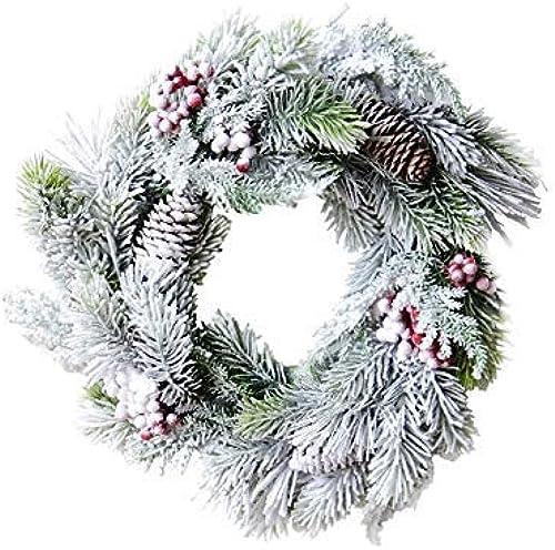 promociones de equipo NANIH Home Home Home Colgantes para el árbol de Navidad de la habitación de Adornos para Colgar en la Puerta de la Navidad de Creative Snow Garland para decoración (blanco) Regalo  marcas de moda