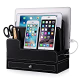EasyAcc Charging Stations for RAVPower 60W 12A 6-Port Multiple Devices Double-Deck Docking Station Organizer for Anker USB Charger (Without Charger) for iPhone 12 Pro Max Cell Phones, Tablet, MacBook