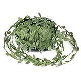 OOTSR Vides Artificiales, 262 pies Hojas de vid de plantas falsas simulación verde oliva deja cinta para boda/fiesta/hogar/decoración de jardín y guirnaldas DIY arte