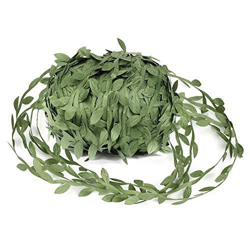 OOTSR Viti artificiali, 262ft falso pianta foglie di vite verde oliva foglia nastro per matrimonio/partito/casa/decorazione del giardino e ghirlanda mestiere fai da te