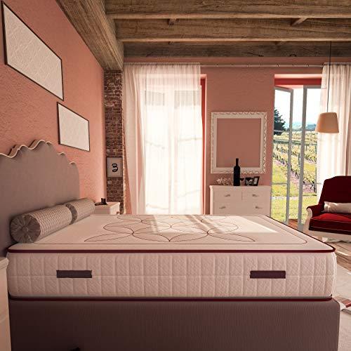 Baldiflex Materasso Amour 120x190 cm 4 cm Memory e 18 cm Waterfoam Alto 24 cm Rivestimento sfoderabile e Lavabile