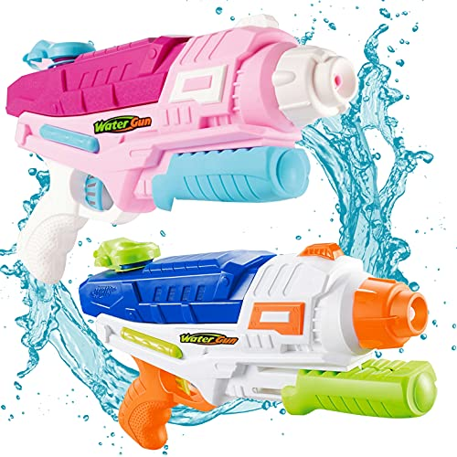 Myouth Water Gun for Kid 2 Pack 600CC High Capacity Super Squirt Gun 32 Feet Long Shooting Range Water Soaker Blaster Outdoor Swimming Pool Party Water Fighting Toy for Adult (2 Pack)