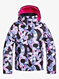 Roxy Jetty Girl-Veste de Ski/Snowboard Fille 8-16 Ans, True Black Famous Alphabet, FR...