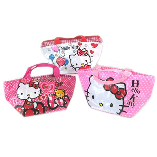 Hello Kitty [K8313-3 sacs shopping blanc rose