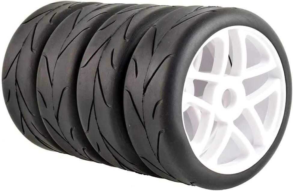 LAFEINA Sale Super sale item 100mm RC On Road Tire and Sl 17mm Rim Wheel Set Adapter