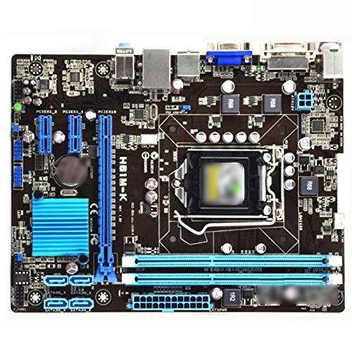 ALBBMY Ajuste para ASUS H61M-K placa base para Intel LGA 1155 DDR3 USB2.0 16 GB DVI VGA H61 Useddesktop placas base Gaming motherboard