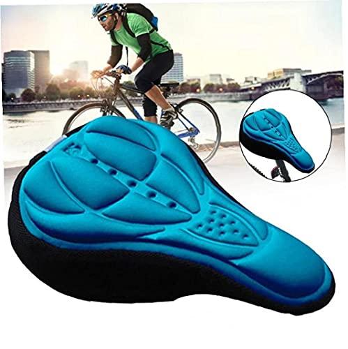 Tuimiyisou Sillín de Bicicleta de Espuma Suave cómodo Montar de la Bici MTB de una Silla con Amortiguador de la Silla de Montar de Ciclo de Accesorios Azul