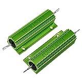 Yohii Wirewound Resistor 100W 150 Ohm Aluminum Case Resistor -2pcs