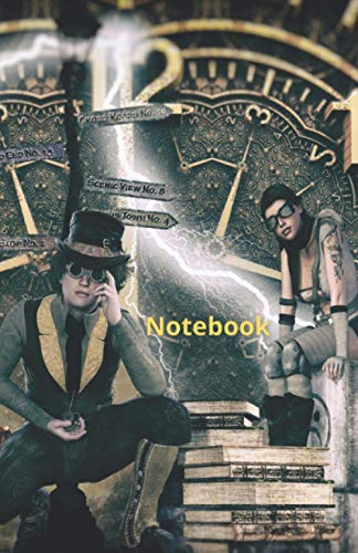 Notebook: Steampunk Theme Journal (Diary) Composition Notebook, A Journal of the Heart, 5.5