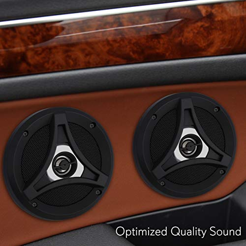 2-Way Universal Car Stereo Speakers - 160W Coaxial 5.25 Universal OEM Quick Replacement Component Speakers Vehicle Door/Side Panel Mount Compatible, Pro Audio Car Speakers - Lanzar DCT5.2 (Pair)