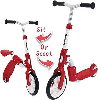 MammyGol 幼儿踏板车和骑行玩具平衡自行车 - 2 合 1 可调节高度 - 瞬间转换,无需工具 - 适合 2-6 岁儿童