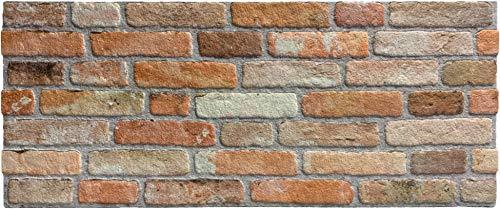 Wandverkleidung in Steinoptik für Schlafzimmer, Wohnzimmer, Küche und Terrasse in Klinkeroptik Look. (ST 351-104)