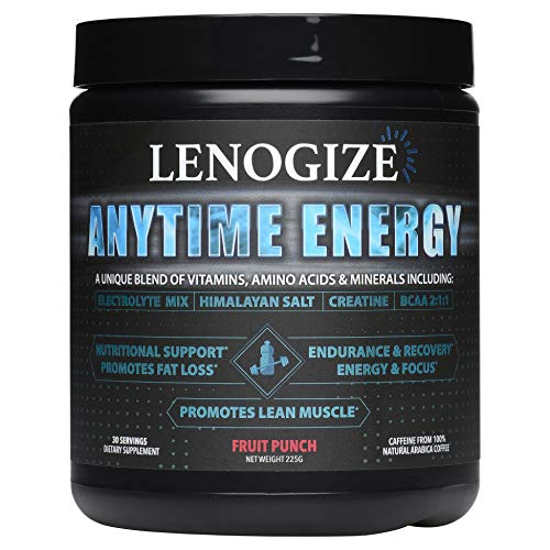 Pre Workout Powder, Post Workout Recovery Drink, Keto-Friendly, Amino Energy, BCAA Energy, Sugar Free, Energy Powder, BCAAs Amino Acids, Immune Booster for Adults, 30 Servings Fruit Punch