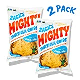 Zack's Mighty Organic Tortilla Chips, Sturdy, Made for Dipping, Heirloom Flint and Dent Corn Blend, Premium,...