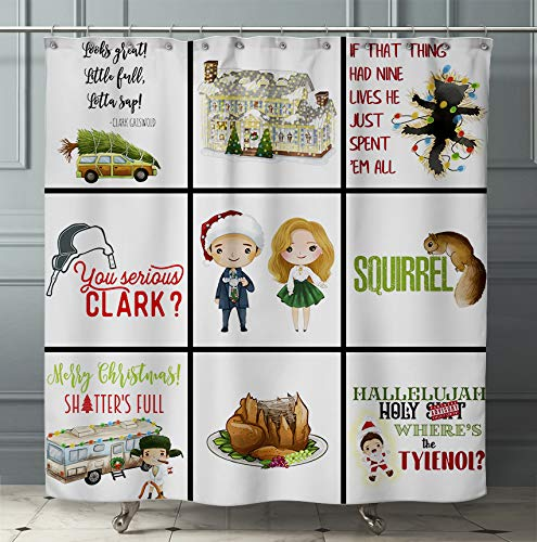 Funny Christmas Vacation Movie Shower Curtain