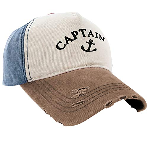 MFAZ Morefaz Ltd Kapitänsmütze Mütze Army Baseballmütze Cap Captain,First Mate,Crew,Cabin Boy,Pirate (Captain Anchor)