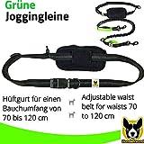Jogging-Leine – Elastische und reflektierende 120 cm Hundeleine (bis 200 cm dehnbar) mit verstellbarem Hüftgurt aus reißfestem Nylon mit abnehmbarem Hüftbeutel – Ideal zum freihändigen Joggen, Spazieren und Wandern von Hundefreund - 5