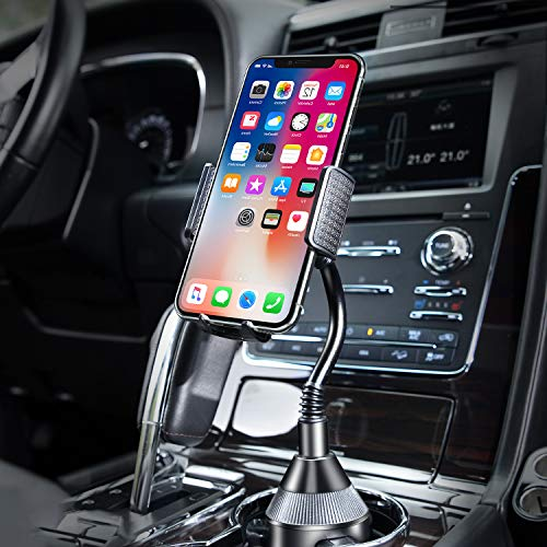 Amoner Car Cup Holder Phone Mount, Adjustable Gooseneck Cup Phone Mount for iPhone 12 11 Pro Max/Plus/Galaxy/Google Pixel/Samsung Note S20 and More