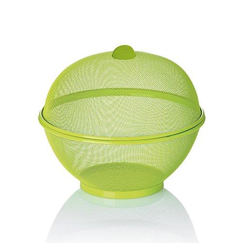 kela 'Como Cesto per Frutta, Acciaio, Verde, 26,5x 24,5cm