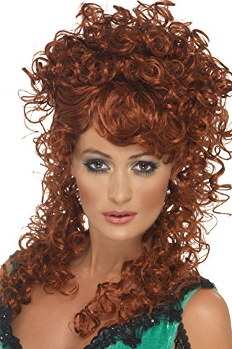 Smiffys womens Saloon Girl Costume Wig, Auburn, One Size US