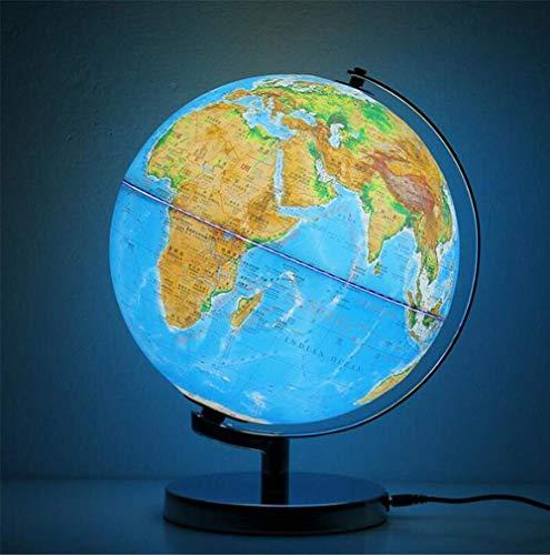 L.HPT Weltkugel mit beleuchtetem & ndash; Leuchtkugel für Kinder & Erwachsene & ndash; Interaktive Erdkugel für Bürobedarf Bürobedarf Schreibtisch Dekorativ, 30 * 30cm / 12 * 12inch