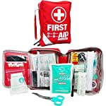 First Aid Kit -Compact First Aid Bag(175 Piece) - Reflective Bag Design- Includes 2 x Eyewash,Instant Cold Pack… 10