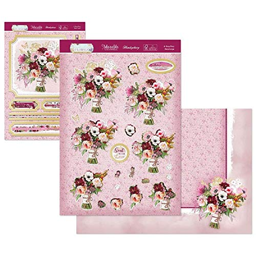 Hunkydory Crafts Flourishing Florals Deco-Large Topper Set- A Rosy Posy
