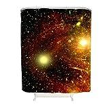 CATNEZA Duschvorhang - Galaxy Drucken Personalisiert Verstärkte Knopflöcher -Starry Gardinen Mit Haken White 91x180cm