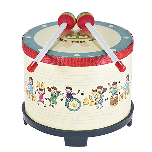 ammoon 20 cm drewniana podłoga perkusja klub kolekcjonerski karnawał instrument perkusyjny z 2 młotkami dla dzieci