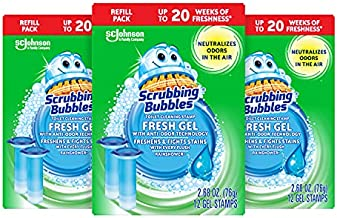 Scrubbing Bubbles Fresh Gel Toilet Cleaning Stamps, 12 Count (Pack of 3) - Packaging May Vary