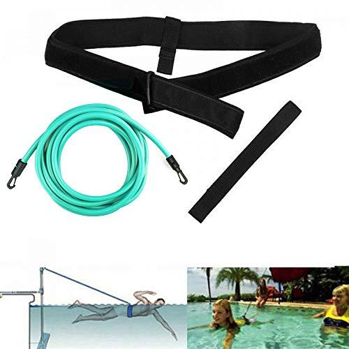 KIKILIVE Cinture di Nuoto,Cinghia per Nuoto delle Cinture da Piscina, per Allenamento stazionario di Resistenza o Giri di Piscina con Cavo Elastico per Adulti e Bambini