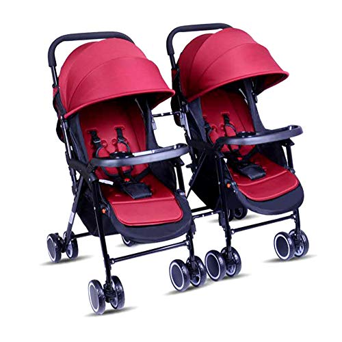 Best Deals! ABM Double Stroller Children City Street Mini Side Stroller Detachable Twin Baby Carriag...