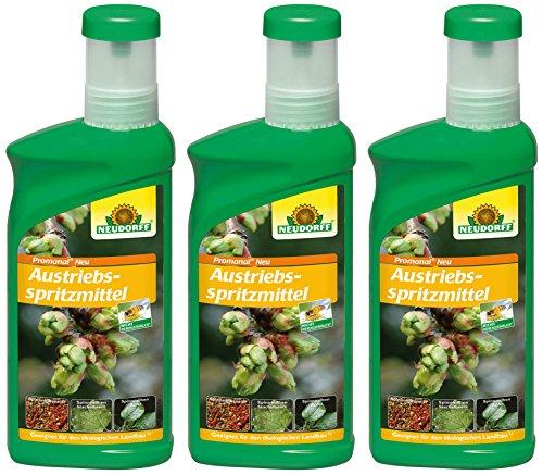 3 x 500 ml Neudorff Promanal Austriebsspritzmittel
