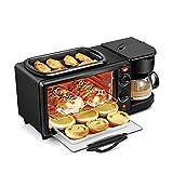 Kitchen Multi-Cooker Mini Ovens, Electric 3 in 1 Breakfast Machine Multifunction Mini Drip
