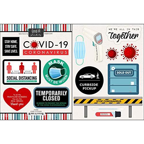 Scrapbook Customs #2 COVID Virus Quarantine Life Scrapbook Stickers