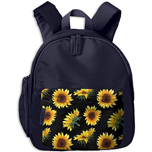 XCNGG Kids Backpack 3D Watercolor Sunflowers Buds Kindergarten Preschool Pocket Bags Rucksack Casual Daypack for Children Toddler Girls Boys Pink