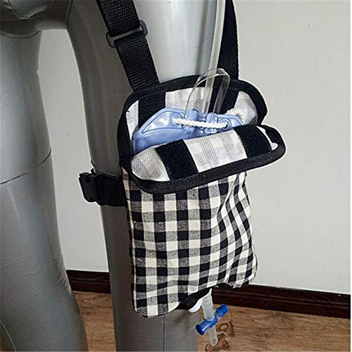 WLIXZ Urinary Catheter Bag Ostomy Bag Holder, Catheter Bag Cover, with Adjustable Shoulder Strap,1,1500ml