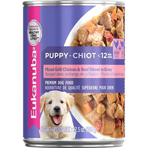 EUKANUBA Puppy Mixed Grill Chicken & Beef Dinner in Gravy Formula...